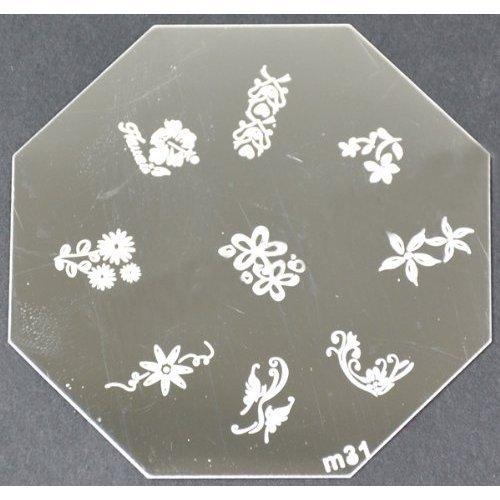 Nail Art emboutissage des tôles - M01 CODE : M31-plaque