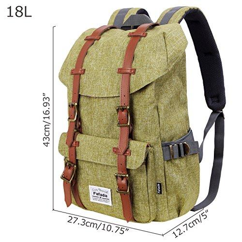 Imagen de fafada  hombres mujer  causal nylon bolsa de viaje senderismo 18l verde impermeable alternativa