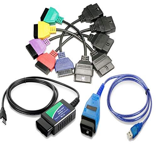 GLLC Cavo Diagnostico Alfa OBD Connettore+ELM327 USB+KKL USB per L'auto Italiana