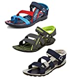 #6: Tempo Men's Combo Pack of 3 Floaters Sandals