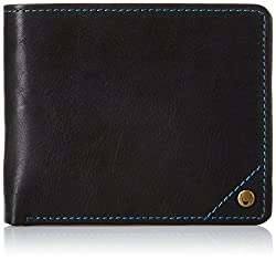 Hidesign Black Mens Wallet (1003 001-Regular-Black)