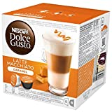Nescafé Dolce Gusto Latte Macchiato Caramel Getränkekapsel, je 8 Milch- und