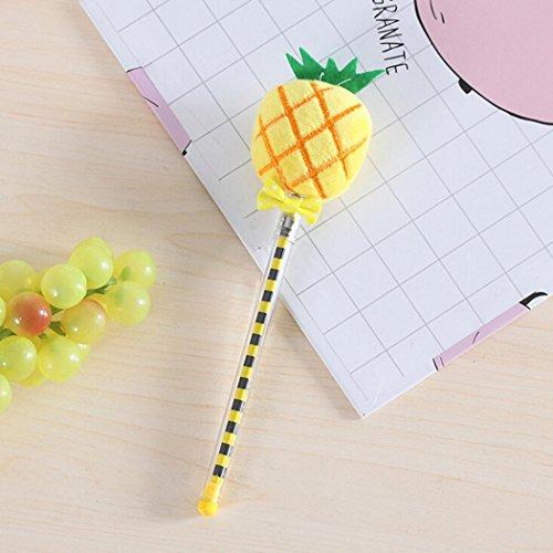 gaddrt Netter Gemüse-Frucht-Plüsch-Ball-kreatives Gel-Stift-glattes Schreiben (A) -