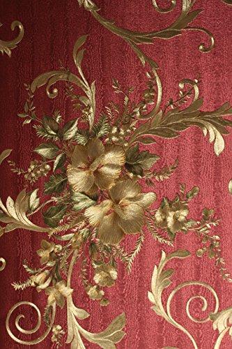 vinyl-tapete-barock-retro-rot-gold-grun-fujia-decoration-22655