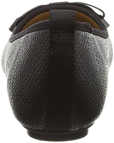 Jane Norman Flat Round Toe Black Bow Detail - Ballerines femme Noir (Black)