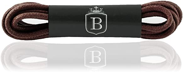 1 Paar Premium Schnürsenkel rund gewachst - 25 Farben - 100% Baumwolle - Längen 45-150 cm - Ø 2-mm - Rundsenkel - Schuhbänder - Zufriedenheitsgarantie
