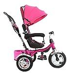 Little-Bambino-4-in-1-Triciclo-con-Parasole-per-Bambini-da-1-a-6-Anni-di-et-Buggy-Triciclo-e-Bici-a-Spinta-con-Maniglia