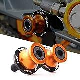 Duke 125 200 390 RC 125 200 390 990 M10 10mm Schwingenschutz Schwingenadapter Ständer Bobbins Spool Racingadapter Ständeraufnahme orange