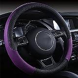 LIYUU1 Leder Cartoon Auto Lenkradabdeckung 38CM Auto-Styling Sport Auto Abdeckungen Anti-Slip Automotive Zubehör,Purple