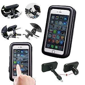 Bienvenue aux supports efficace de Moto et de Vélo ! Terminé les arrêts pour vérifier son SmartPhone ! -Le ICOOM support se positionne sur le guidon de votre Moto ou Vélo avec sa double fixation compatible avec tout type de gui...