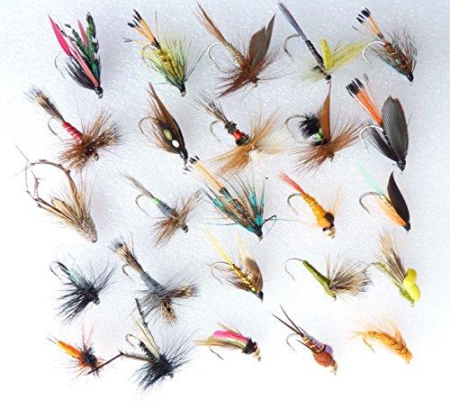 Forellen Fliegenfischen Fliegen Nassfliegen trocknet, & Nymphs am Haken Größen 10, 12oder 14 HOOK SIZE 14 (Fly Hook Dry Barbless)