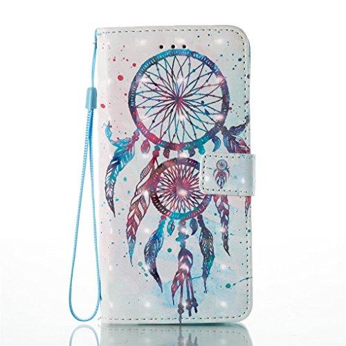 iPhone 7 Plus / 8 Plus Hülle, SATURCASE Schönes 3D Muster PU Lederhülle Ledertasche Magnetverschluss Flip Cover Brieftasche Case Handy Tasche Schutzhülle Handyhülle Hülle mit Standfunktion Kartenfäche Muster-3