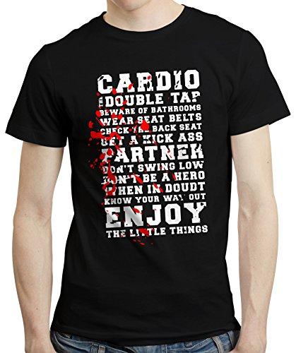 CafePress–T-Shirt Tshirt Tee Zombies Rules Survival Dead Walking inoffizieller Schwarz