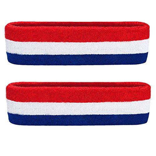HANERDUN Sport Stirnband Herren Damen Schweißbänder kopf Stirn Baumwolle Frottee kopfband Sport für Laufen Fahrrad Joggen Tennis Fußball