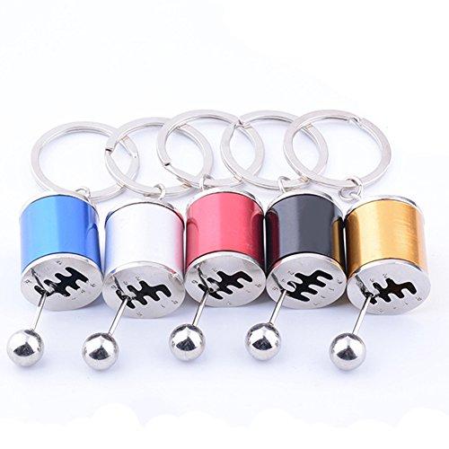 yibenwanligod Kreative Schlüsselring Auto 6 Gang Gangschaltung Modell Metall Schlüsselanhänger Handwerk Ornament Schwarz