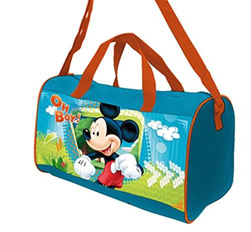 Mickey y sus amigos–Bolsa de deporte azul de Mickey Mouse Oh Boy vuelta al cole