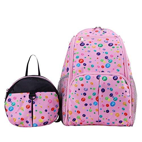 Wickeltaschen Mama Rucksack Grosse Kapazität Multifunktionale Pflegetasche Windel Tasche Rose Punkt Rose Punkt
