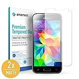 smartect Mattes Panzerglas kompatibel mit Samsung Galaxy S5 Mini [2X MATT] - Displayschutz mit 9H Härte - Blasenfreie Schutzfolie - Anti Fingerprint Panzerglasfolie