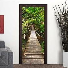 GWELL Türtapete Selbstklebend Wasserdicht PVC 77x200cm Abnehmbar TürPoster  Fototapete Türaufkleber Wandbild Für Tür, Wohnzimmer,