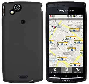 mumbi silicone Coque Sony Ericsson Xperia Arc / Xperia ARC S - Etui Housse Poche Protecteur Noir