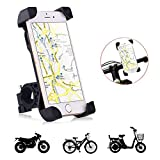 Tempo Bicycle Phone Mount,Fullbell Universal Cell Phone Bicycle Rack Handlebar & Motorcycle Holder for iPhone 7, 7 Plus, 6, 6 Plus (Black)