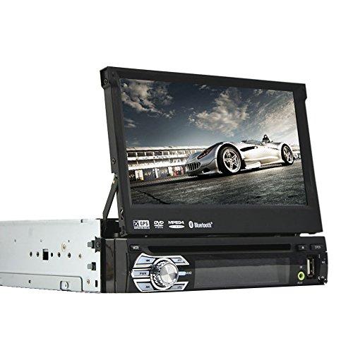EINCAR Flip-Up Touchscreen Universal 1 Lärm-Auto-Autoradio Bluetooth in Schlag-DVD-CD-MP3-Player Deck Stereo GPS Navigation Autoradio Video Audio Head Unit mit Abnehmbarer Frontplatte USB/SD SW (Dvd-player Deck Auto Für)