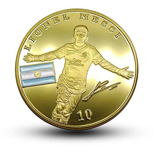 GHY Moneda Conmemorativa Moneda Conmemorativa Aficionado Al Fútbol Moneda Coleccionable Regalo Creativo Moneda,Imagen,Un tamaño