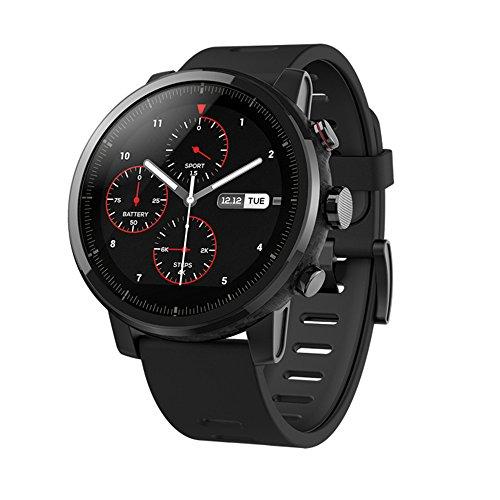 Xiaomi Amazfit Stratos 2 - Xiaomi Amazfit Montres intelligentes, Montres de Sport avec GPS Bluetooth Smartwatch écran Tactile Moniteur de fréquence Cardiaque 5ATM étanche Version Anglaise Noir