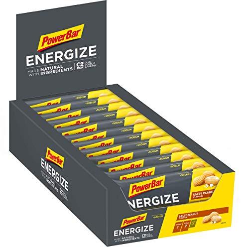 PowerBar Energieriegel Energize mit Magnesium und Natrium - Fitness-Riegel, Kohlenhydrate Riegel mit Hafer, Früchten und Maltodextrin, 25 x 55 g Salty Peanut