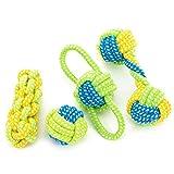 Juego de 7 juguetes para perro, Kathy Lee's Shop para mascota, cuerda de algodón trenzado para masticar juguetes dentales de peluquería, limpieza de dientes para perros pequeños y cachorros