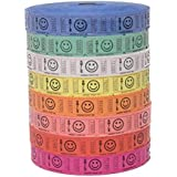Raffle Tickets - 4 Rolls of 2000 Tickets) 8,000 Total Smile Raffle Tickets (4 Assorted Colors)