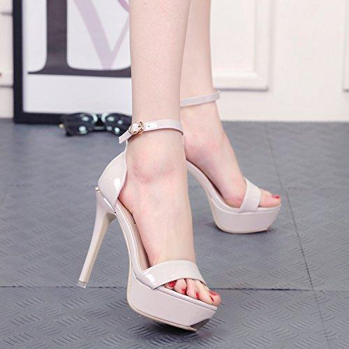 con un impermeabile sandali tacchi parola le scarpette da semplice corrisponde tutto femminile estate sandali. gray