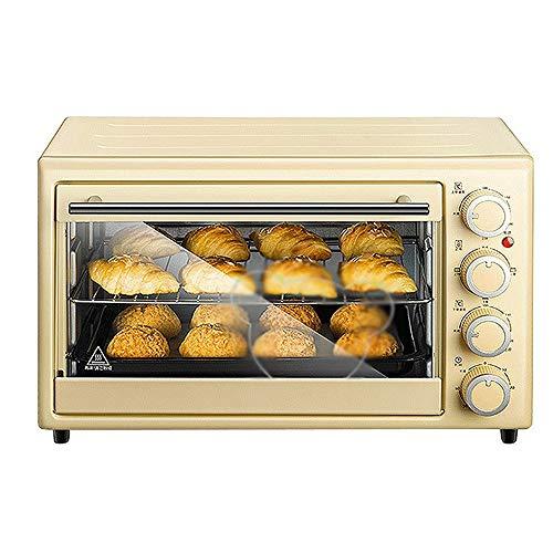 LQRYJDZ Mini horno tostador con Timer-Toast Ajustes asar, 1600W caliente Horno de...