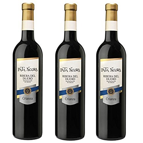 Pata Negra Crianza D.O Ribera del Duero Vino Tinto - 3 Botellas x 750 ml - Total : 2250 ml