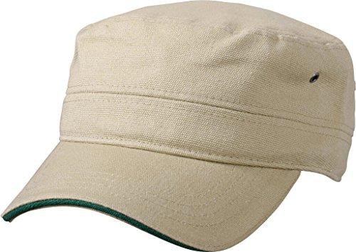 Myrtle Beach Sandwich Cap im Military-Stil aus robustem Baumwollcanvas (khaki/dark-green)