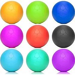 Lacrosse-Ball (6cm Ø) punktuellen Behandlung von Verspannung & Verhärtungen ähnlich dem Faszientraining - Massageball & Faszienball (Faszienrolle) für Physiotherapie, Rehasport & Fitness rot