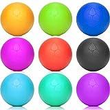 Lacrosse-Ball (6cm Ø) punktuellen Behandlung von Verspannung & Verhärtungen ähnlich dem Faszientraining - ideal als Massageball & Faszienball (Faszienrolle) für Physiotherapie, Rehasport & Fitness pink