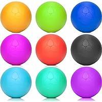 Lacrosse-Ball (6cm Ø) punktuellen Behandlung von Verspannung & Verhärtungen ähnlich dem Faszientraining - ideal als Massageball & Faszienball (Faszienrolle) für Physiotherapie, Rehasport & Fitness
