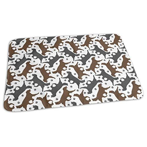 Kotdeqay Baby Changing Pad Liners Trotting Flat Coated Retrievers Paw Daily Use Diaper Changing Pad Mats Portable Pad 25.5x31.5 Inches