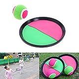 Ouken 1Set Fang und Toss Spiel Catch Ballsport Game Set Self-Stick Disc Paddles und Toss Ball-Interactive Toy Lernspiel für Kinder Fun Spiel