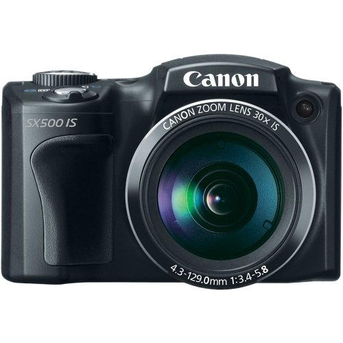 Canon PowerShot SX500 IS Point & Shoot Camera (Black)
