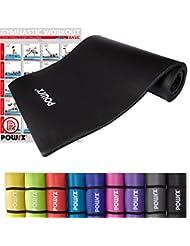 POWRX Gymnastikmatte inkl. Trageband + PDF Workout   Trainingsmatte Yogamatte Phthalatfrei 190 x 60 x 1.5 cm oder 190 x 100 x 1.5 cm   verschiedene Farben