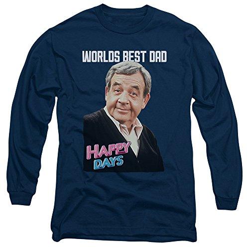 Happy Days - Herren Best Dad Long Sleeve T-Shirt Navy