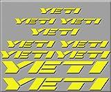 Ecoshirt I4-JB4B-QK9P Stickers Yeti R210 Vinyle Stickers Décalcomanies Autocollants pour VTT Jaune