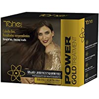Tahe Power Gold Pack Mantenimiento 4 Productos Incluye Champú Cleansing Total 10 ml, Champú Keratin Gold 300 ml, Mascarilla Gold 300 ml, Mascarilla Gold Keratin 125 ml