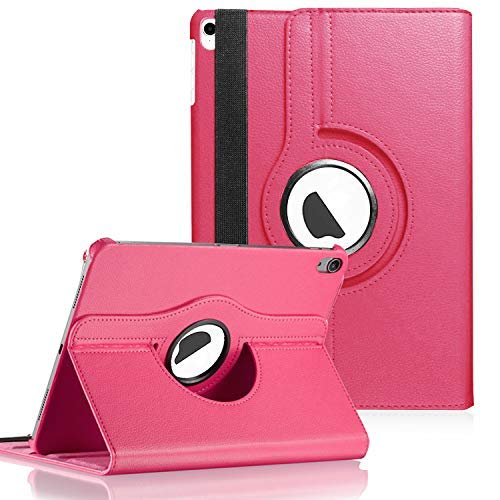 J.west 2018 iPad Pro 11 Zoll Hülle, 360 drehbare Hülle Smart Cover Flip PU Leder Folio mit Auto Sleep Wake Stand Case für iPad Pro 11 Zoll Version 2018, Rose pink Pink Case Leder-folio