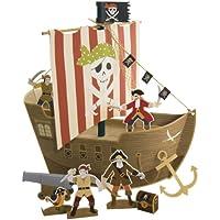 Meri Meri Piratenschiff Mittelpunkt, mehrfarbig
