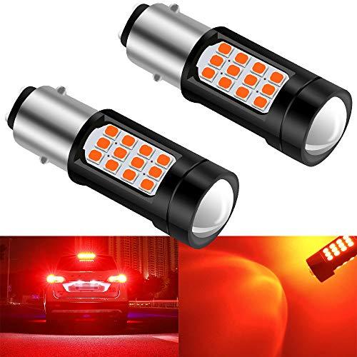2 pz 1157 BAY15D Super Bright 2835 42SMD Canbus Car Lampadine a LED Luci di Stop Luci di Coda Lampada Luci di Parcheggio Luci di Marcatura Laterali 6000K(Rosso)