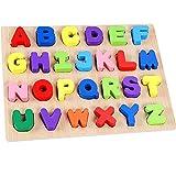 Lewo Holz Alphabet Puzzle Board ABC Buchstaben Lernspielzeug für Kleinkinder und Kinder