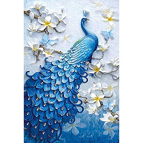 ALLHZ DIY Diamant Malerei Leinwand Malerei Stickerei Kreuzstich 5D Alle Diamant Wohnzimmer Schlafzimmer Dekorative Kinder Geschenk Bluebird(Ohne Rahmen)